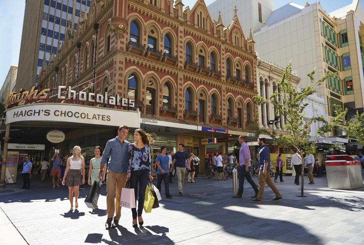 Shopping in der Rundle Street, Adelaide, Südaustralien © South Australian Tourism Commission