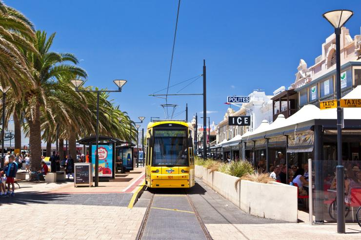 Tram, Jetty Rd, Adelaide, Südaustralien © South Australian Tourism Commission