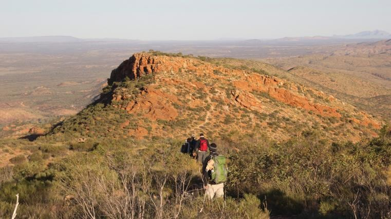 Larapinta Trail, West MacDonnell Ranges, Northern Territory © Tourism NT