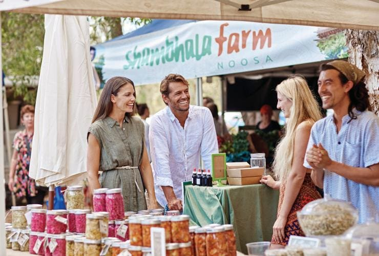 Noosa Farmers Market, Sunshine Coast, Queensland © Tourism and Events Queensland