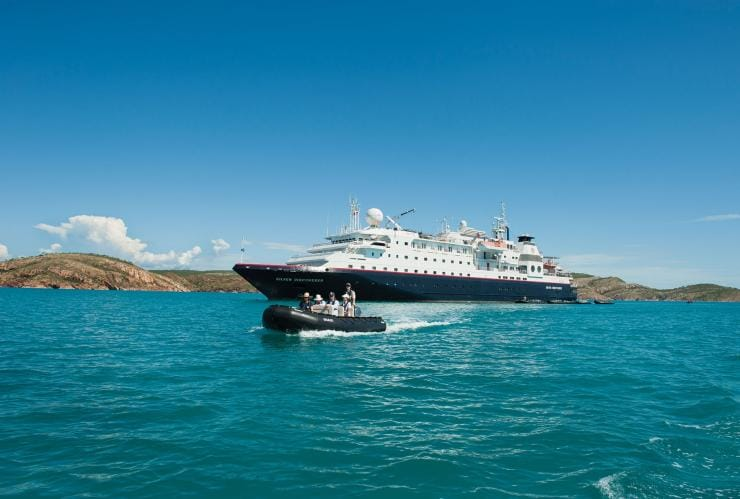 Silversea Cruises, Kimberley Region, Northern Territory © NT Photo Silversea Cruises