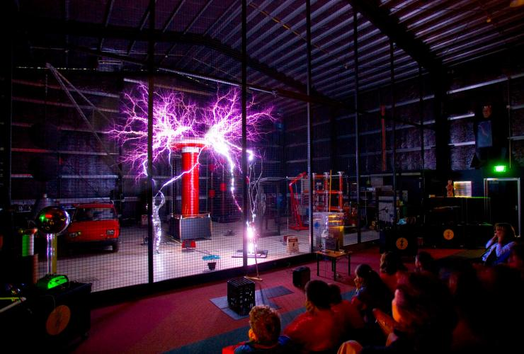 Die Lightning Room Show im Scienceworks Melbourne © Museums Victoria