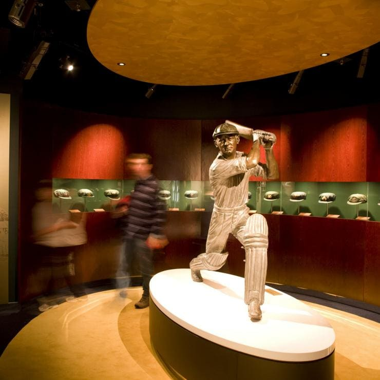 Don Bradman-Ausstellung im National Sports Museum in den Melbourne Cricket Grounds (MCG) © National Sports Museum