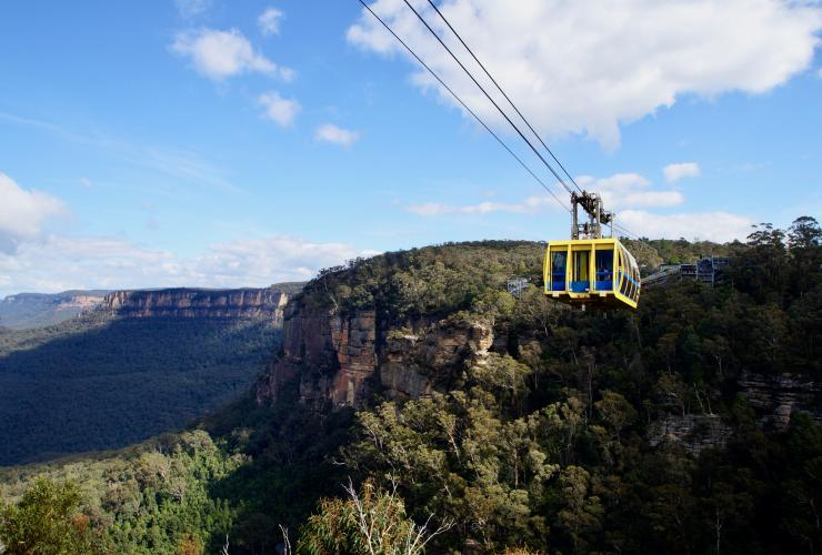 Scenic Skyway-Gondelbahn, Scenic World, Katoomba, Blue Mountains, New South Wales © Destination NSW
