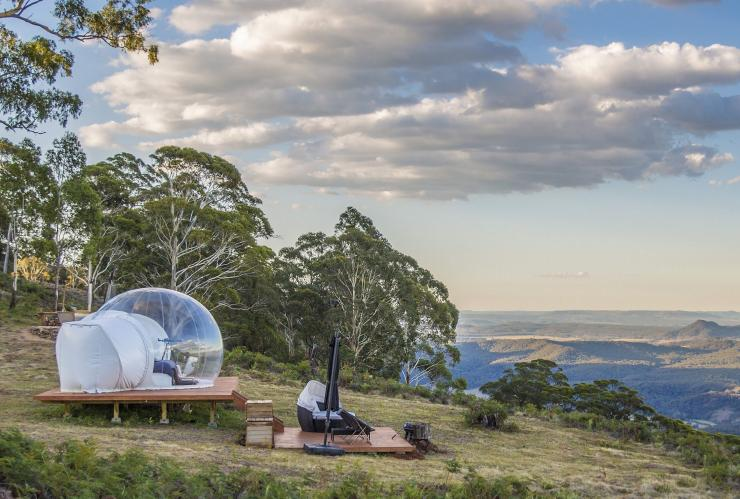 Bubble Tents, Capertree, Region Mudgee, New South Wales © Australian Traveller