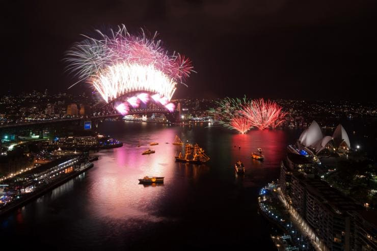 Silvesterfeuerwerk, Sydney Harbour, New South Wales © City of Sydney