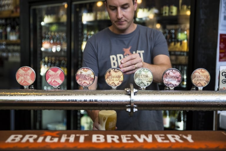 Bright Brewery, High Country, Victoria © Visit Victoria