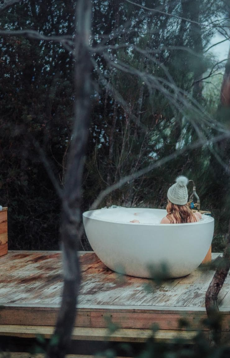 Pumphouse Point, Lake St Clair, Tasmanien © Stu Gibson, Tourism Tasmanien