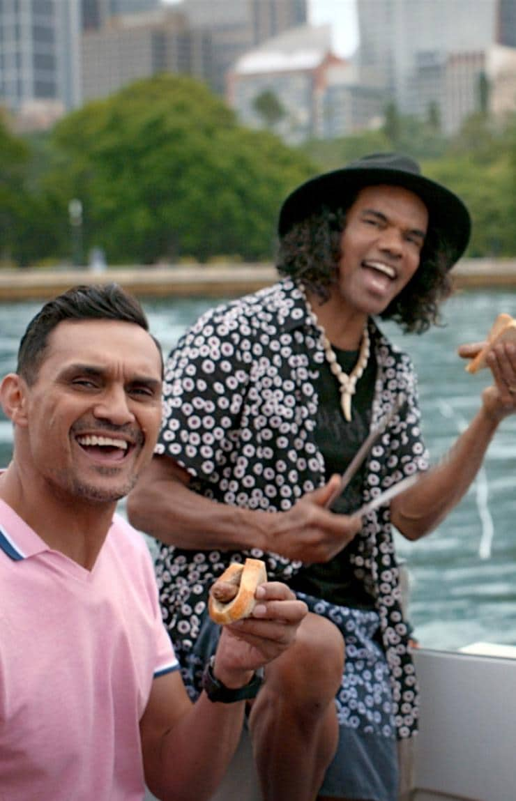 Aboriginal Comedy Allstars im Sydney Harbour, Sydney, New South Wales © Tourism Australia
