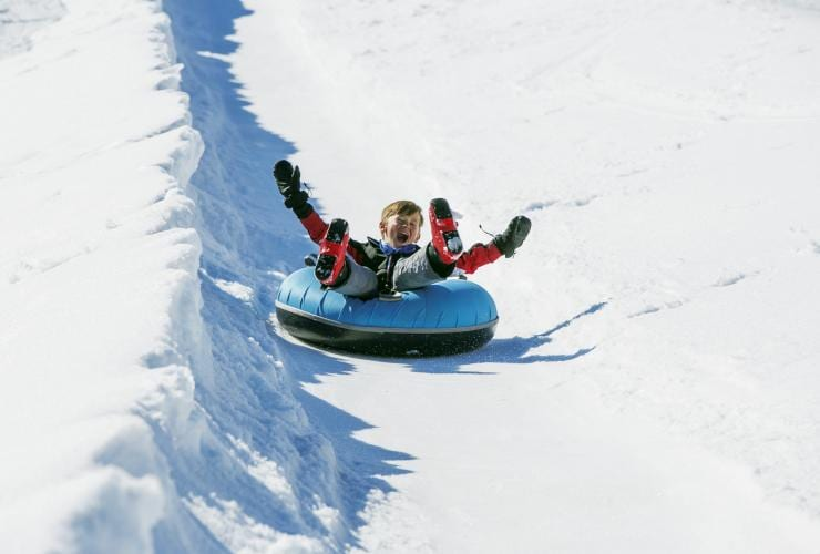 Tubing in Falls Creek, Victoria © Charlie Brown, Falls Creek Alpine Resort