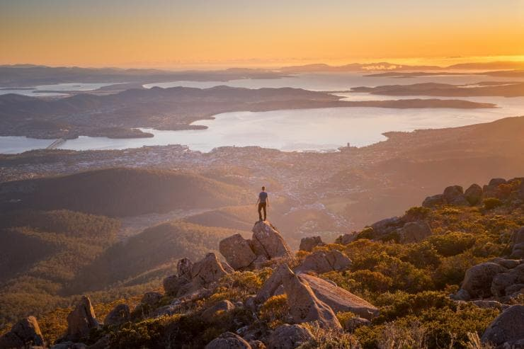 Mt Wellington, Hobart, Tasmanien © Paul Fleming, Tourism Tasmania