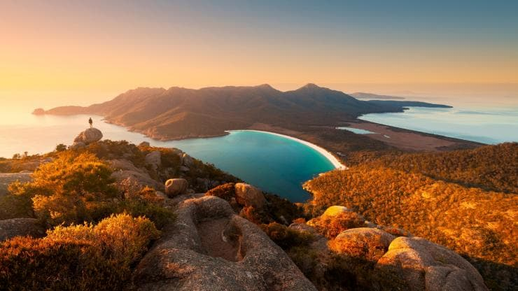 Wineglass Bay, Freycinet National Park, Tasmanien © Graham Freeman, Tourism Tasmania