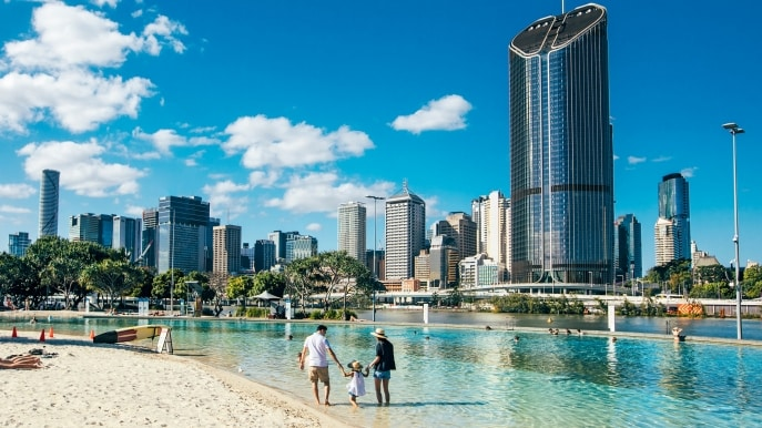 Streets Beach, Brisbane, Queensland © Visit Brisbane