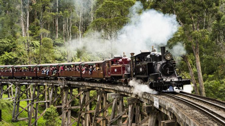 Dampfeisenbahn Puffing Billy, Dandenong Ranges, Victoria © Robert Blackburn