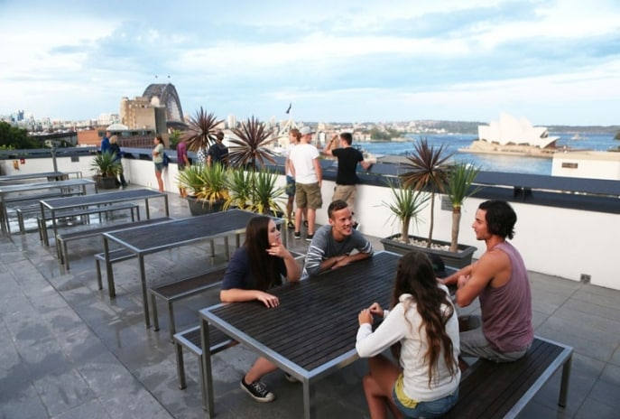 Rooftop-Terrasse des Sydney Harbour YHA, Sydney, New South Wales © YHA