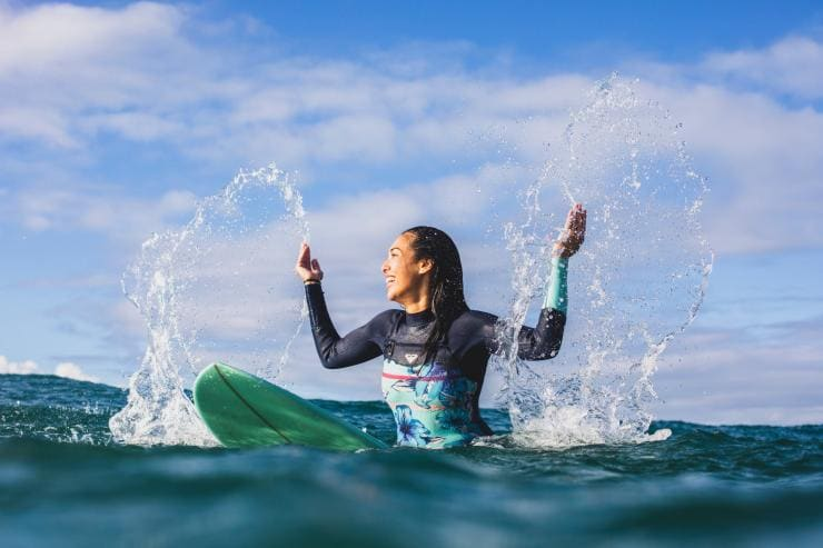Surfer, Burleigh Heads, Queensland © Tourism and Events Queensland