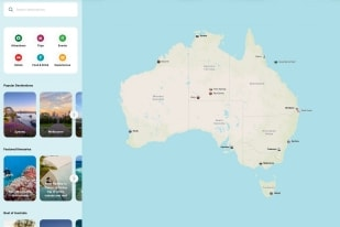 Interactive map of Australia © Tourism Australia