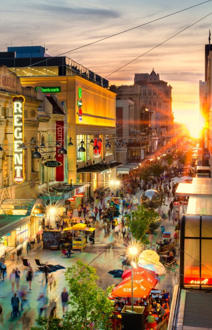 Rundle Mall at sunset in Adelaide © Adelaide City Council