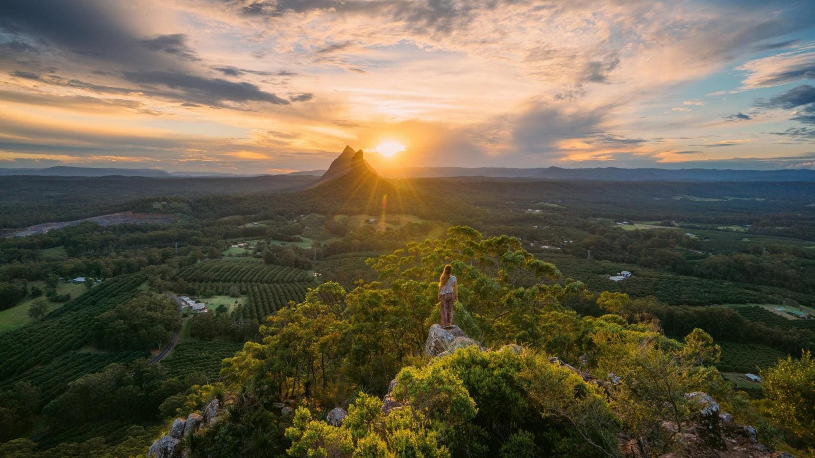 Glass House Mountains, Sunshine Coast, QLD. © Tourism Australia