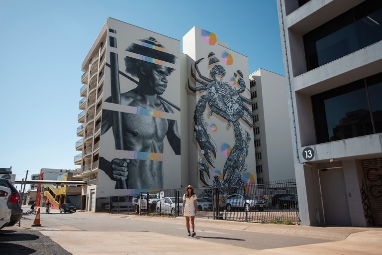 Multi Dimensional Man mural in Darwin © Tourism Australia