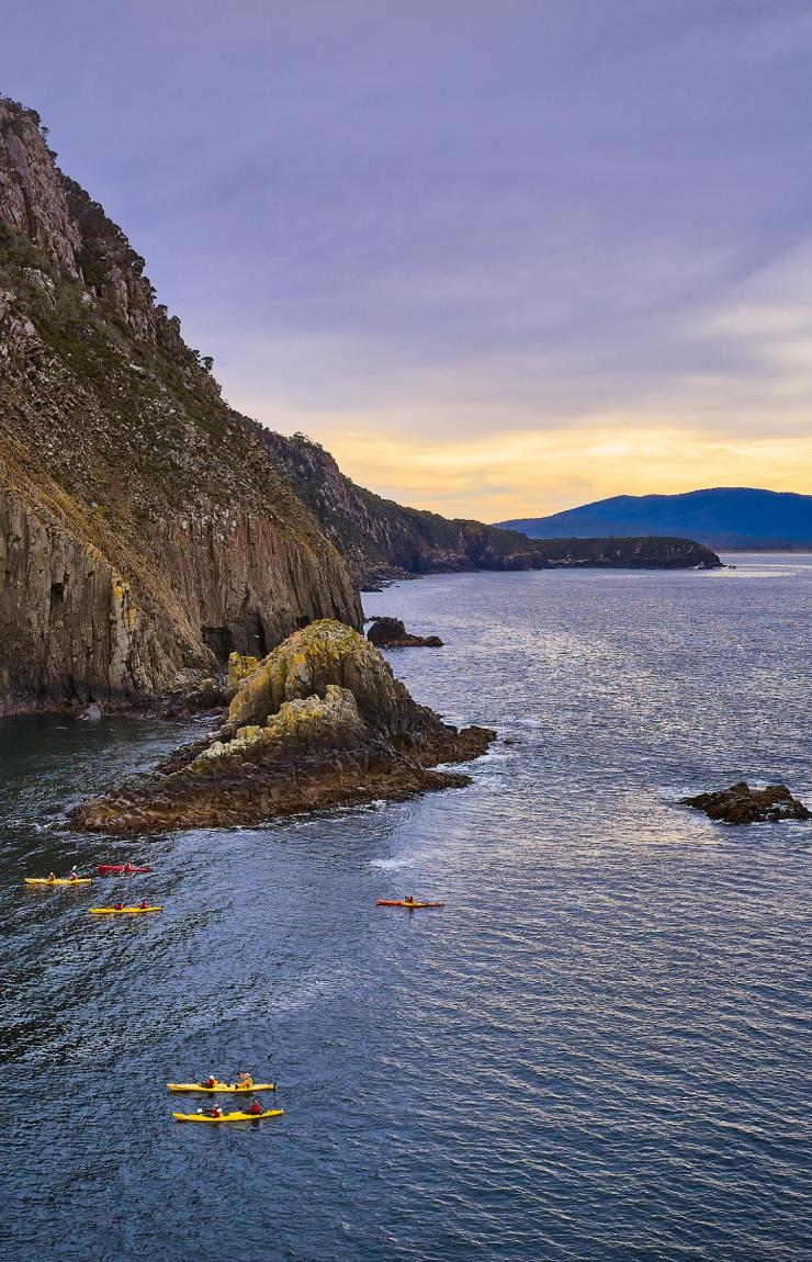 Bruny Island Long Weekend's glamping experience, Bruny Island, TAS © Tourism Tasmania