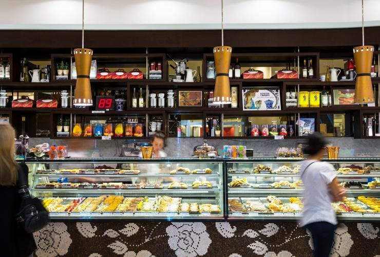 Sweets at Brunetti in Carlton, Melbourne © Visit Victoria