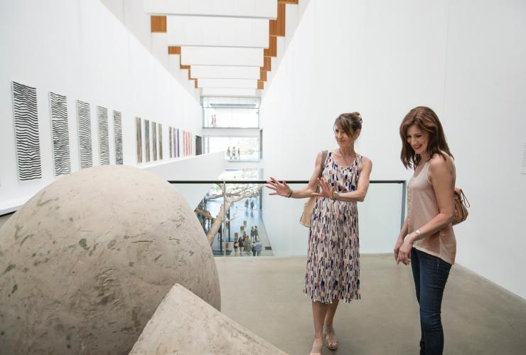 Women viewing artwork at the Gallery of Modern Art in Brisbane © Brisbane Marketing