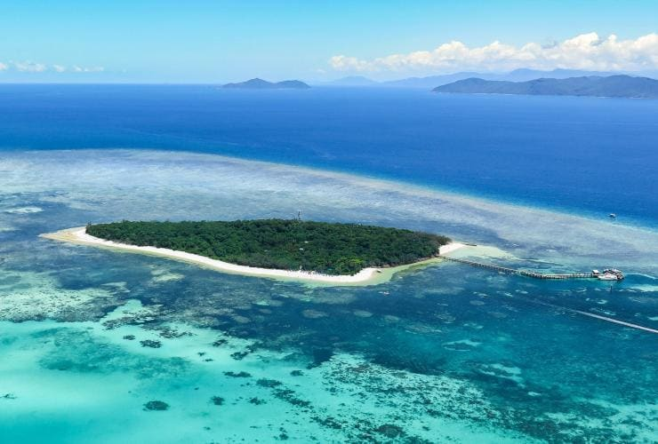 Aerial view of Green Island near Cairns in Queensland © Jemma Craig/Tourism & Events Queensland