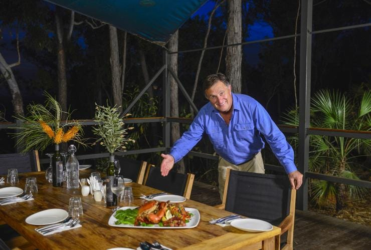 Seafood Dining at Arnhem Land Barramundi Lodge, NT© Barramundi Lodge