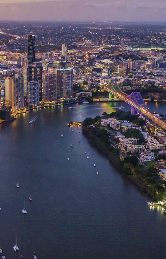 Brisbane City skyline © Tourism Australia