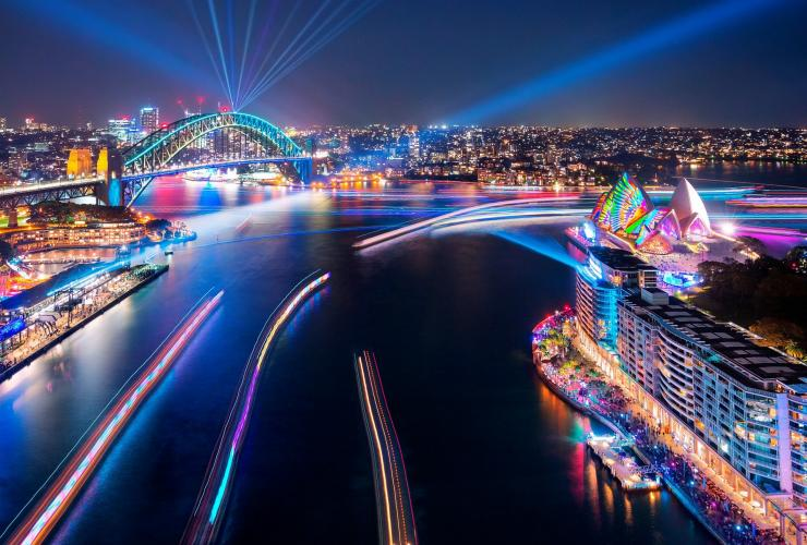Vivid Sydney, Sydney Harbour, Sydney, NSW © Destination NSW