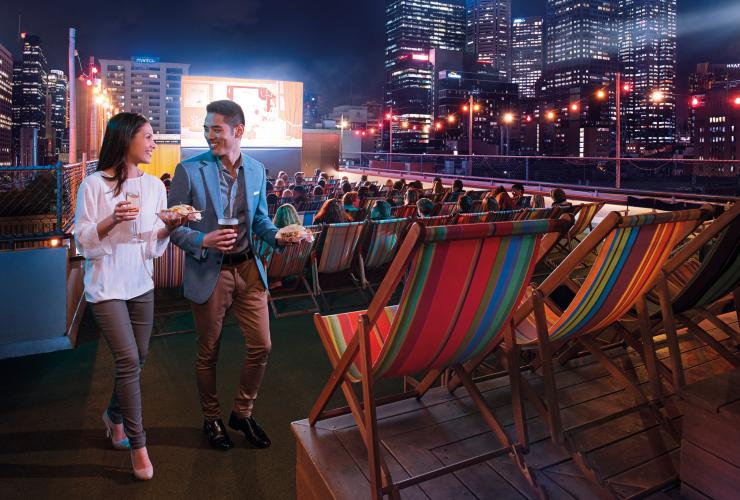 Rooftop Bar and Cinema at Curtin House, Melbourne, VIC © Tourism Australia
