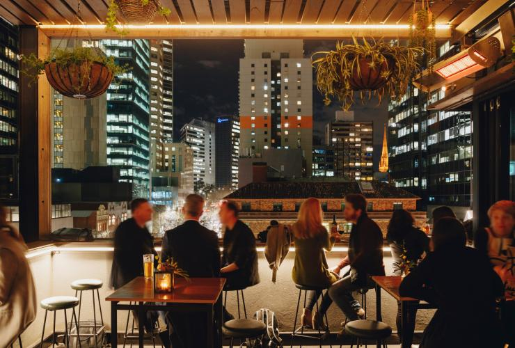 Diners enjoy Melbourne's nightlife at Bomba Rooftop Bar in Melbourne  © Visit Victoria/Jake Roden