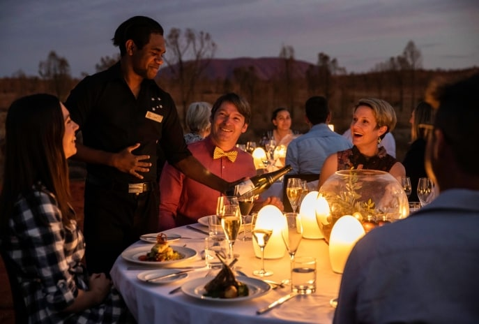 Sounds of Silence dining experience, Uluru-Kata Tjuta National Park, Red Centre, NT (C) Sounds of Silence
