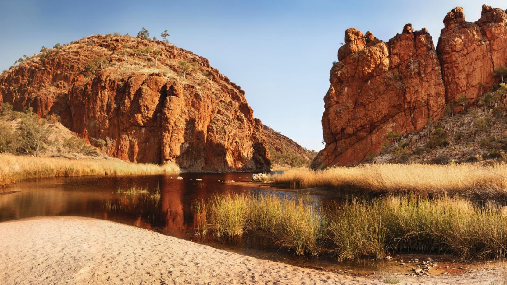 Glen Helen Gorge, West MacDonnell Ranges, NT © Tourism NT