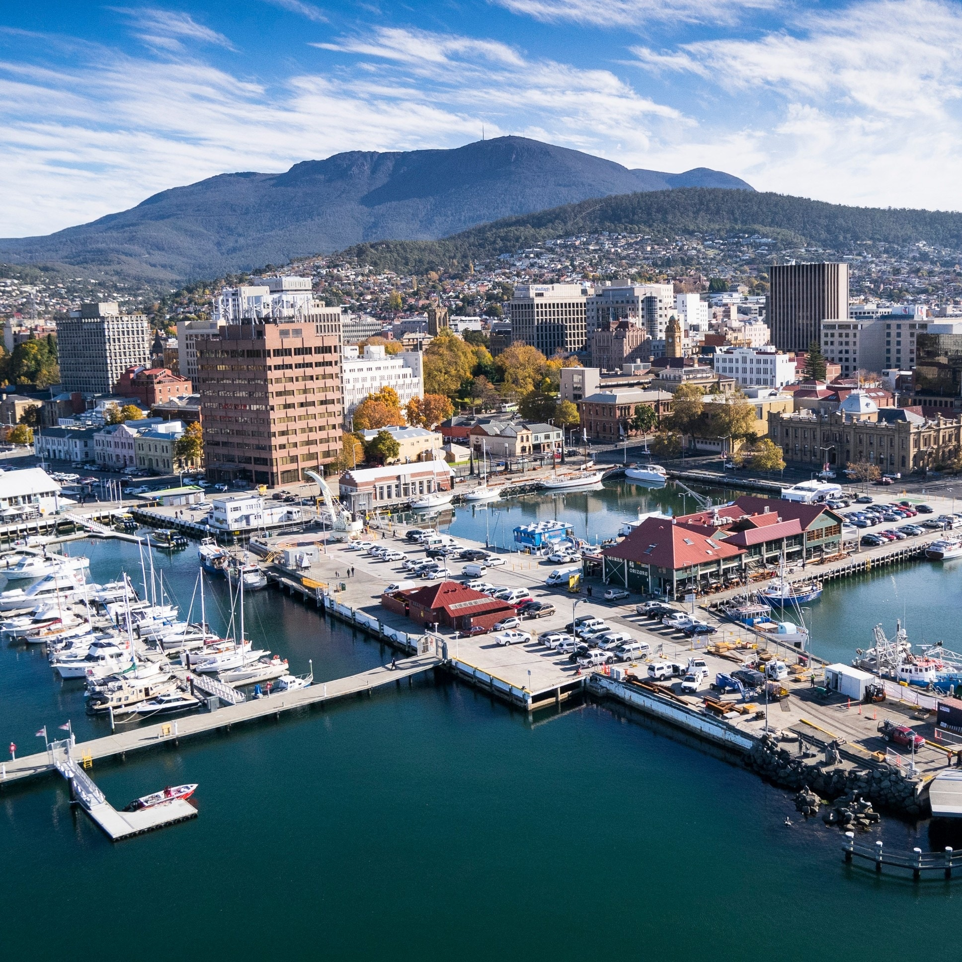 Hobart from the air, Hobart, TAS © Stu Gibson