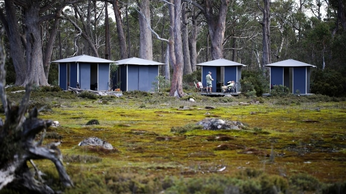 RiverFly wilderness huts, Western Lakes, TAS © RiverFly 1864