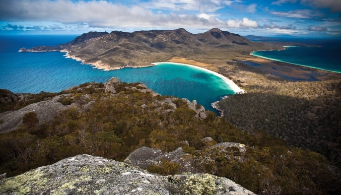 Wineglass Bay, Freycinet National Park, TAS. © Tourism Tasmania