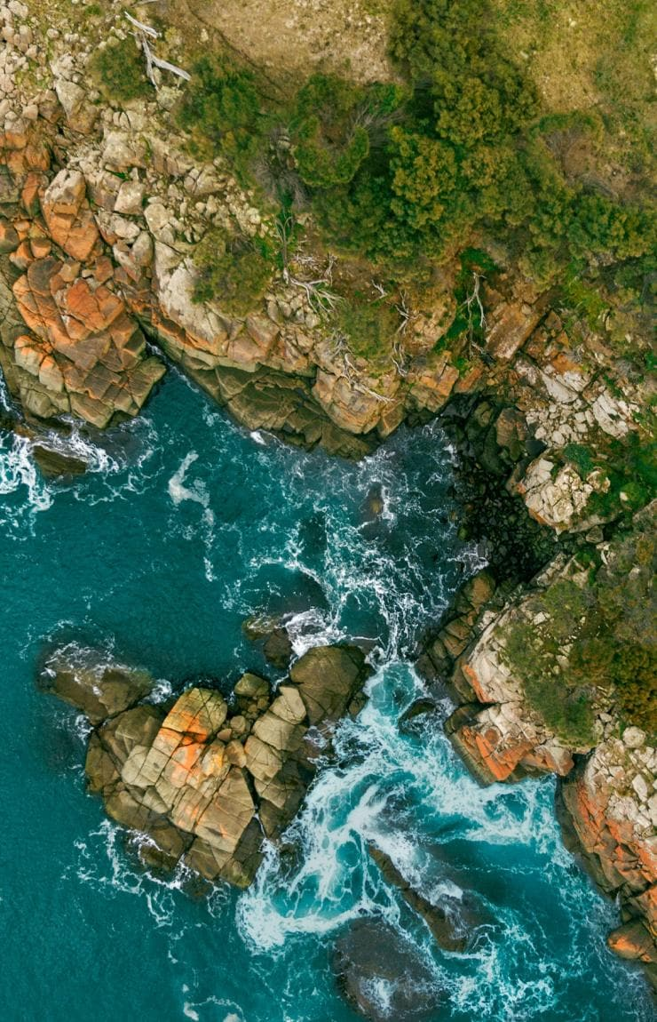 Aerial view of Bruny Island © Georges Antoni