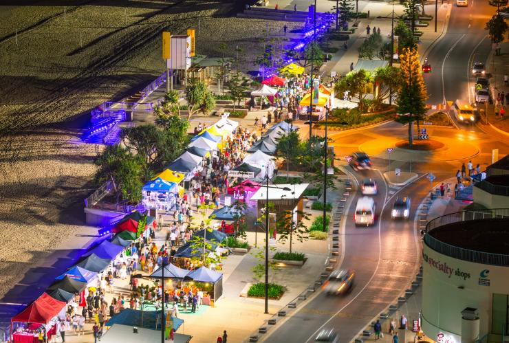 Surfers Paradise Night Markets, Gold Coast, QLD © Destination Gold Coast