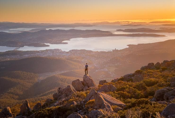Mount Wellington/kunanyi summit, Hobart, TAS © Tourism Tasmania, Paul Fleming