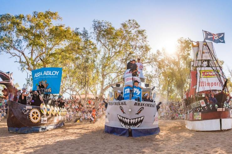 Henley on Todd Regatta, Alice Springs, NT © Lisa Hatz Photography