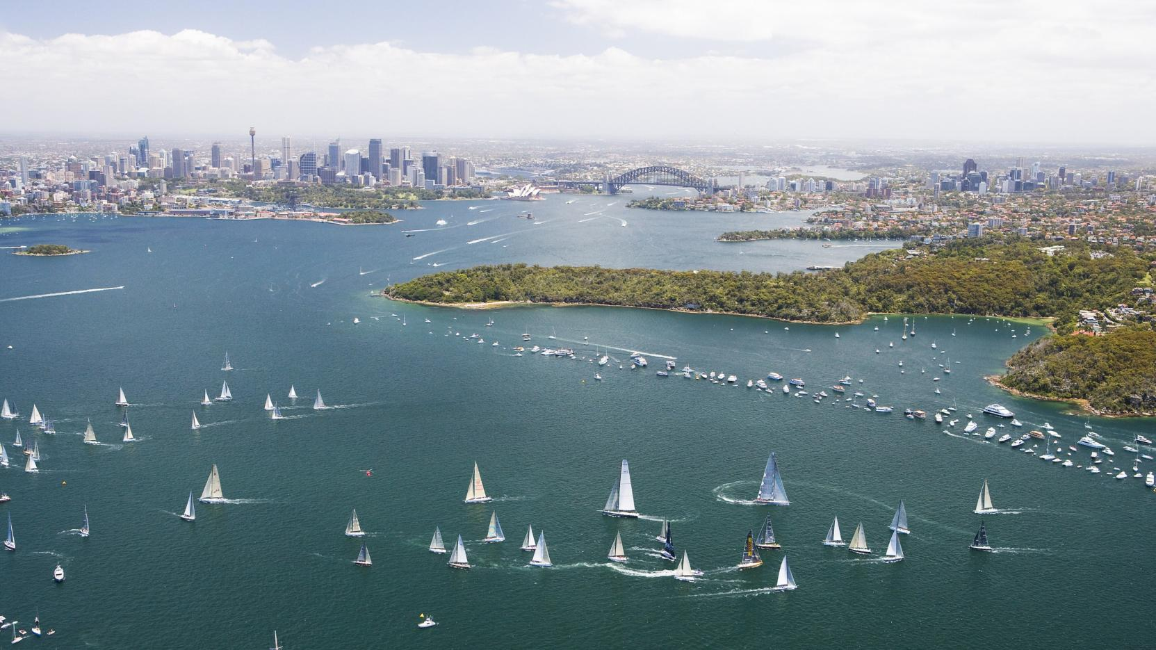 Sydney to Hobart Yacht Race, Sydney Harbour, NSW © Hamilton Lund, Destination New South Wales
