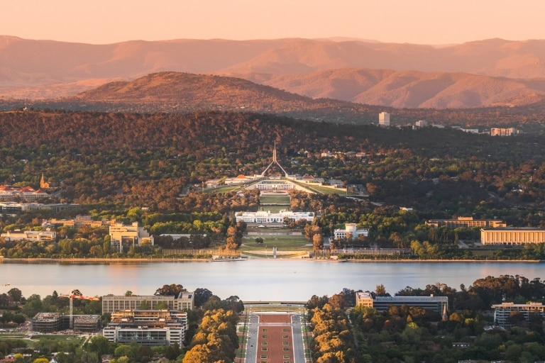 View from Mt Ainslie, Canberra, Australian Capital Territory © Rob Mulally for VisitCanberra