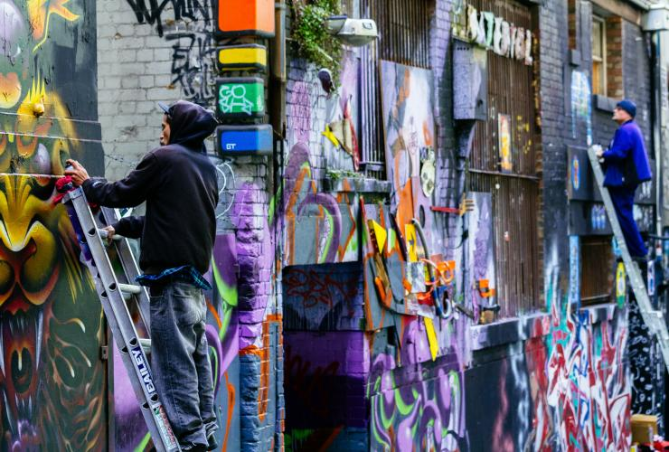 Hosier Lane, Melbourne, VIC © Roberto Seba