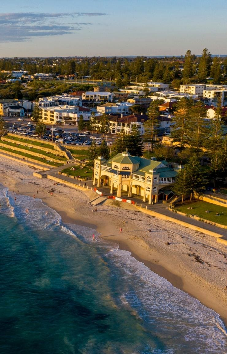 Aerial shot of Cottesloe Beach, WA © Tourism Australia