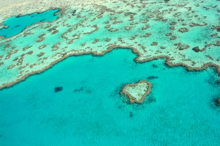 Heart Reef, Great Barrier Reef, QLD © Tourism and Events Queensland