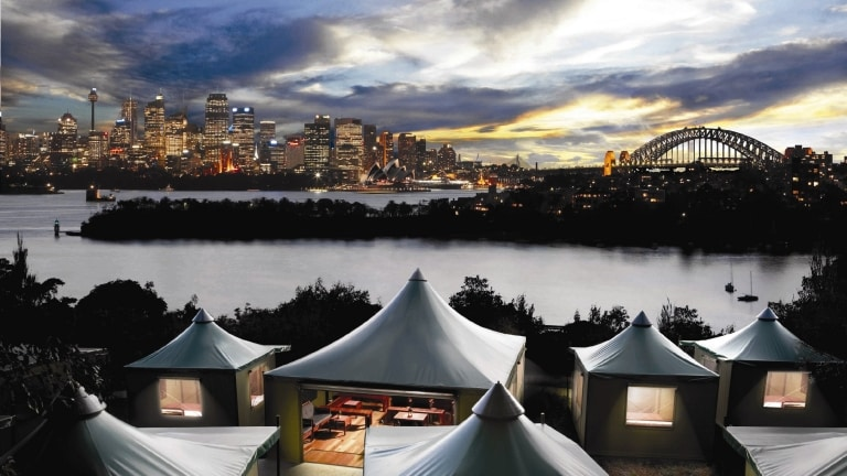Roar and Snore glamping experience, Taronga Zoo, Sydney, NSW © Taronga Zoo