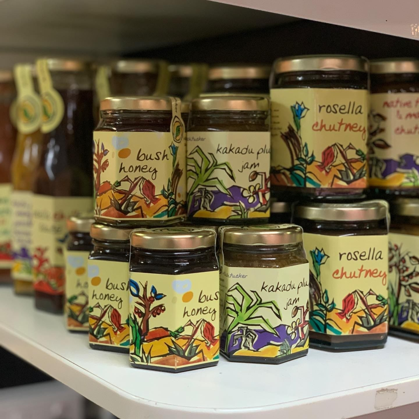 Jars of native jam for sale at Something Wild in Adelaide © Something Wild