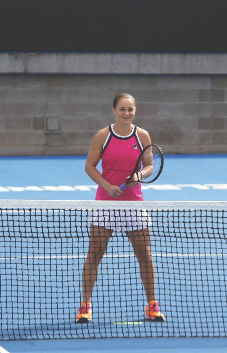 Ash Barty at Rod Laver Arena, Melbourne, VIC © Tourism Australia